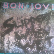 Discos de vinilo: L.P BON JOVI, SLIPPERY WHEN WET, ORIGINAL . Lote 42620078