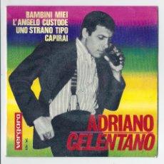 Discos de vinilo: ADRIANO CELENTANO EP 7 BAMBINI MIEI VERGARA 276 XC 1964 EXCELENTE. Lote 42620184