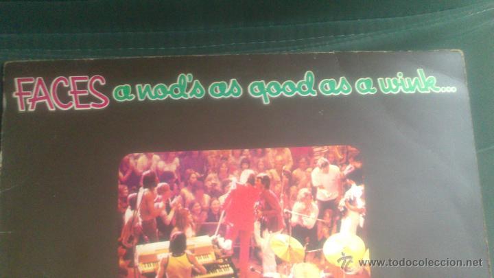 Discos de vinilo: L.P FACES, A NOD,S AS GOOD AS A WINK - Foto 2 - 42620197