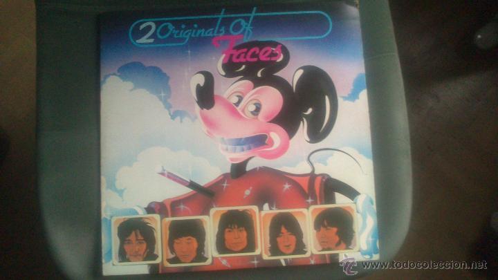 L.P FACES, ORIGINAL 20 OF FACES, DOBLE (Música - Discos de Vinilo - EPs - Pop - Rock Extranjero de los 70)