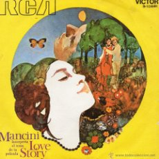 Discos de vinilo: HENRY MANCINI - FILM LOVE STORY, SG, THEME FROM LOVE STORY + 1, AÑO 1971. Lote 42624635