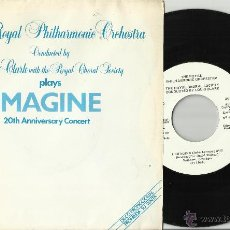 Discos de vinilo: THE ROYAL PHILHARMONIC ORCHESTRA SINGLE PROMOCIONAL IMAGINE/HAPPY XMAS J.LENNON ESPAÑA 1983. Lote 42625263