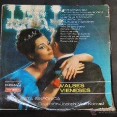 Discos de vinilo: VALSES VIENESES - ORQUESTA SINFÓNICA DIRECCION JOSEPH VON KONRAD - VERGARA. Lote 42625603