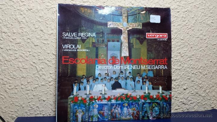 SINGLE. ESCOLANIA DE MONTSERRAT. SALVE REGINA (Música - Discos - Singles Vinilo - Clásica, Ópera, Zarzuela y Marchas)