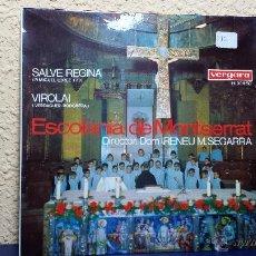 Discos de vinilo: SINGLE. ESCOLANIA DE MONTSERRAT. SALVE REGINA. Lote 42629241
