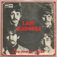 Discos de vinilo: THE BEATLES, LADY MADONNA. Lote 42633287