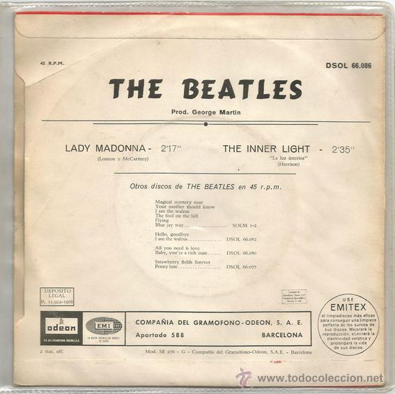 Discos de vinilo: The Beatles, Lady Madonna - Foto 2 - 42633287