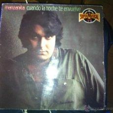 Disques de vinyle: LP - MANZANITA - CUANDO LA NOCHE TE ENVUELVE - 1983. Lote 42633360