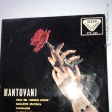 Discos de vinilo: MANTOVANI VALSES BRILLANTES. TEMA MOULIN ROUGE Y 3 +. DECCA STO 102. 1958. Lote 42638596
