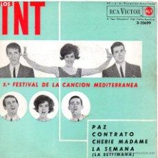 Discos de vinilo: T. N. T. - FESTIVAL MEDITERRANEA, EP, CHERIE MADAME + 3, AÑO 1963. Lote 42640112