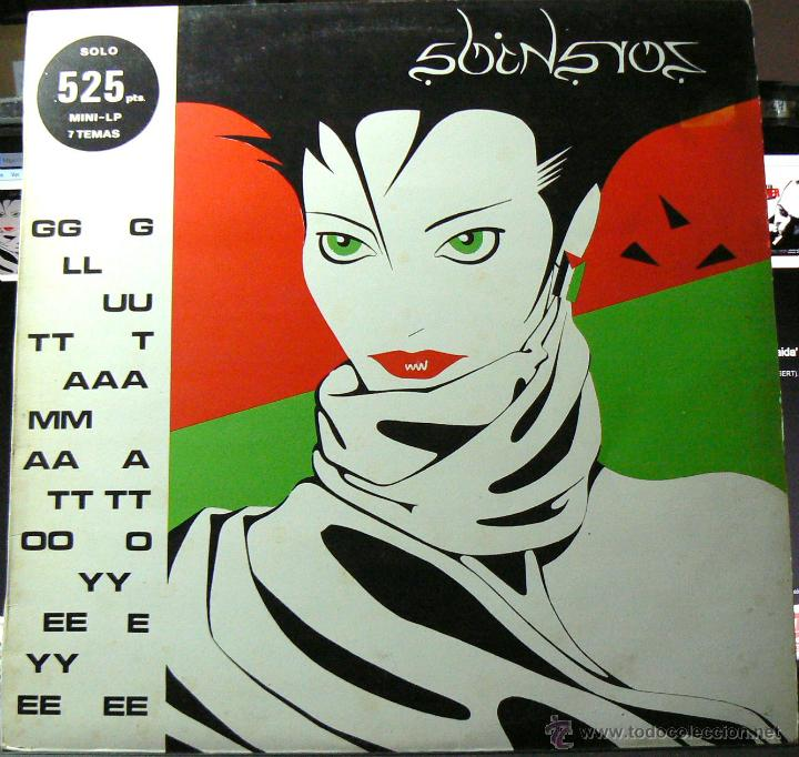 GLUTAMATO YEYE RARO MINI LP DRO 1982 !! ZORAIDA, COMPLETA EDIT ORG + INSERTO !! EXC (Música - Discos - LP Vinilo - Grupos Españoles de los 70 y 80)
