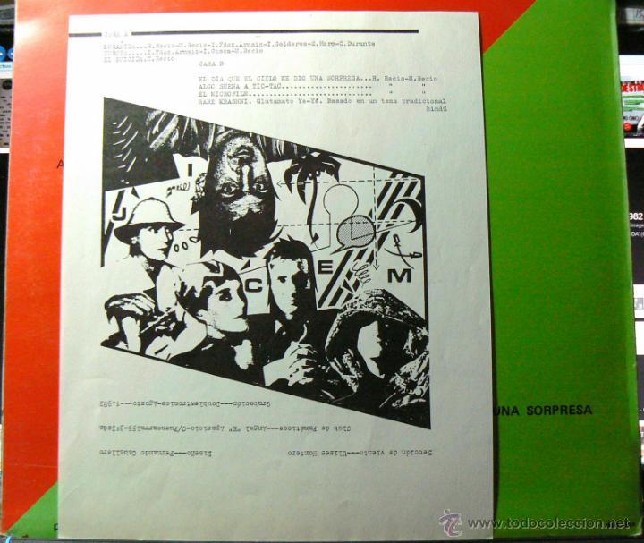 Discos de vinilo: GLUTAMATO YEYE RARO MINI LP DRO 1982 !! ZORAIDA, COMPLETA EDIT ORG + INSERTO !! EXC - Foto 3 - 42650592