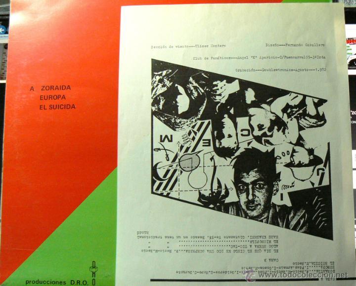Discos de vinilo: GLUTAMATO YEYE RARO MINI LP DRO 1982 !! ZORAIDA, COMPLETA EDIT ORG + INSERTO !! EXC - Foto 4 - 42650592