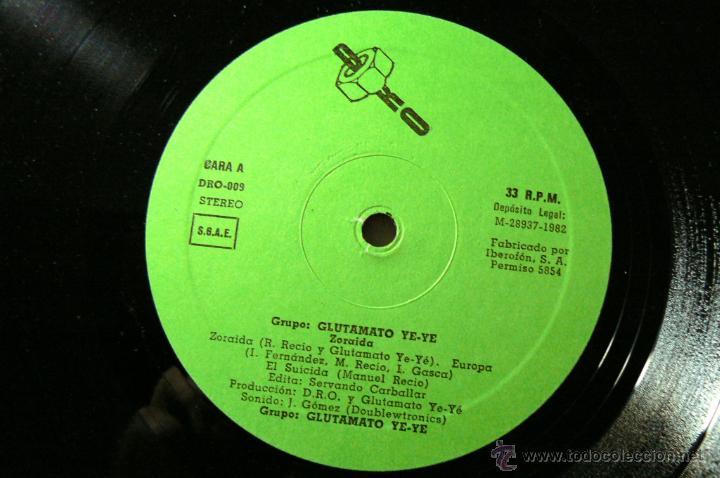 Discos de vinilo: GLUTAMATO YEYE RARO MINI LP DRO 1982 !! ZORAIDA, COMPLETA EDIT ORG + INSERTO !! EXC - Foto 5 - 42650592