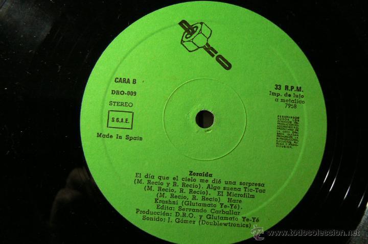 Discos de vinilo: GLUTAMATO YEYE RARO MINI LP DRO 1982 !! ZORAIDA, COMPLETA EDIT ORG + INSERTO !! EXC - Foto 6 - 42650592