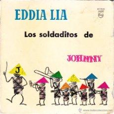 Disques de vinyle: EDDIA LIA - LOS SOLDADITOS DE JOHNNY - EP VINILO AZUL. Lote 42651324