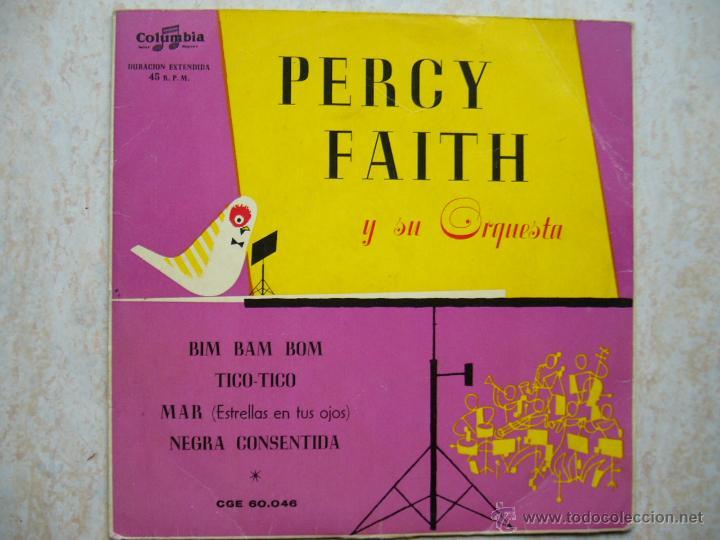 PERCY FAITH Y SU ORQUESTA - BIM BAM BOM +3 (Música - Discos de Vinilo - EPs - Orquestas)
