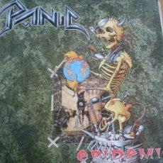 Discos de vinilo: PANIC EPIDEMIC LP 1991 INSERTO. Lote 42661013