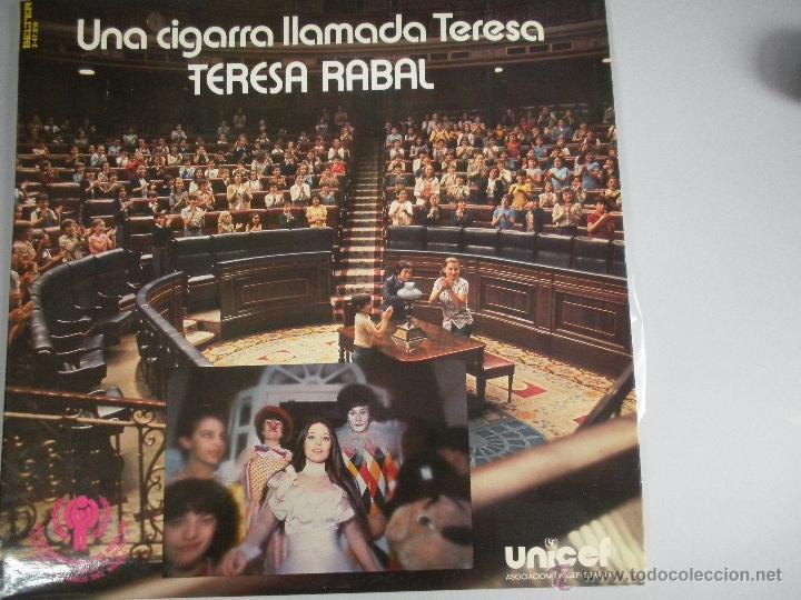 MAGNIFICO - LP - DE - TERESA - RABAL - UNA CIGARRA LLAMADA TERESA - (Música - Discos - LPs Vinilo - Música Infantil)