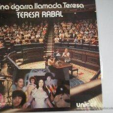 Discos de vinilo: MAGNIFICO - LP - DE - TERESA - RABAL - UNA CIGARRA LLAMADA TERESA -. Lote 42663508