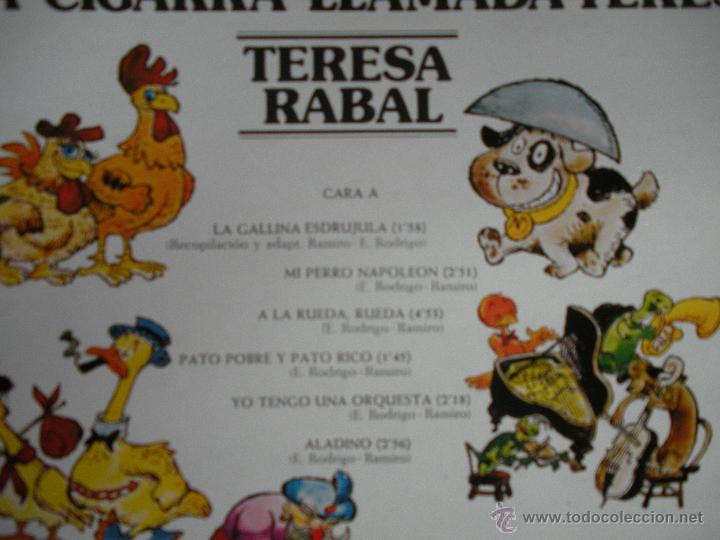 Discos de vinilo: MAGNIFICO - LP - DE - TERESA - RABAL - UNA CIGARRA LLAMADA TERESA - - Foto 2 - 42663508