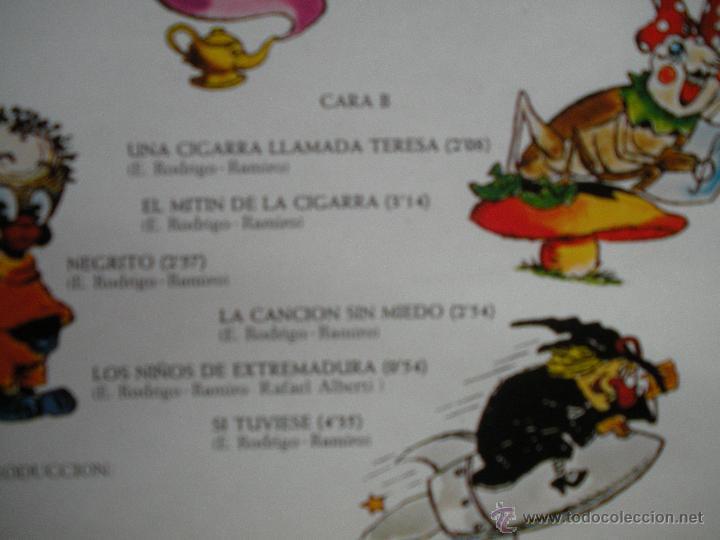 Discos de vinilo: MAGNIFICO - LP - DE - TERESA - RABAL - UNA CIGARRA LLAMADA TERESA - - Foto 3 - 42663508