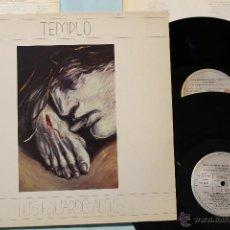 Discos de vinilo: LUIS EDUARDO AUTE TEMPLO 2 LP VINYLS DOBLE GATEFOLD COVER ARIOLA 1987. Lote 42666883