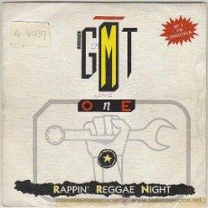 Discos de vinilo: G.M.T. ONE - REGGAE NIGTH MEDLEY - RAPPIN NIGHTS, BLANCO Y NEGRO 1987. Lote 42670222