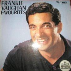 Discos de vinilo: LP-VINILO-GRAN BRETAÑA-FRANKIE VAUGHAN FAVOURITES-1957-WING-WL1077-12 TEMAS-.. Lote 42670879