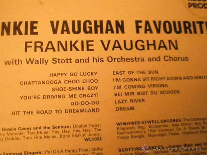 Discos de vinilo: LP-VINILO-GRAN BRETAÑA-FRANKIE VAUGHAN FAVOURITES-1957-WING-WL1077-12 TEMAS-. - Foto 2 - 42670879