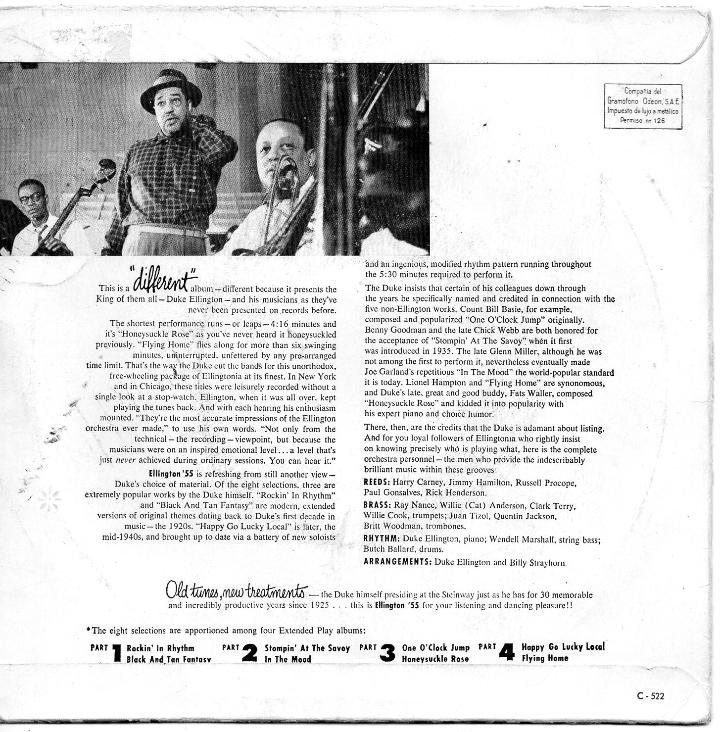 Discos de vinilo: DUKE ELLINGTON and His Famous Orchestra, EP, ROCKIN´ IN RHYTHM + 1, AÑO 1959 - Foto 2 - 42671792