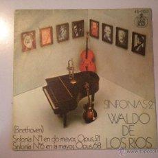 Discos de vinilo: MAGNIFICO SINGLE DE - WALDO - DE - LOS - RIOS -. Lote 42679161