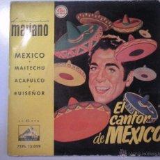 Discos de vinilo: MAGNIFICO SINGLE DE - LUIS - MARIANO - MEXICO -. Lote 42679916