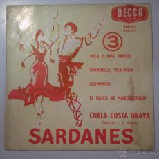 Discos de vinilo: MAGNIFICO SINGLE DE -SARDANES -. Lote 42680050
