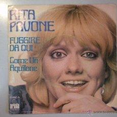 Discos de vinilo: MAGNIFICO SINGLE DE - RITA - PAVONE -. Lote 42680887