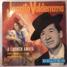 Discos de vinilo: MAGNIFICO SINGLE DE - JUANITO - VALDERRAMA -. Lote 42680978
