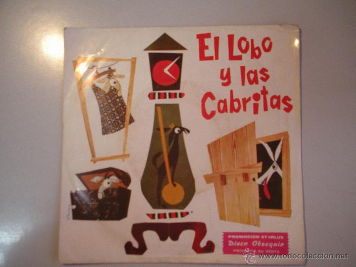 MAGNIFICO SINGLE DE - EL - LOBO - Y - LAS - CABRITAS - (Música - Discos - Singles Vinilo - Música Infantil)