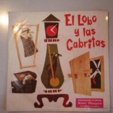Discos de vinilo: MAGNIFICO SINGLE DE - EL - LOBO - Y - LAS - CABRITAS -. Lote 42681035