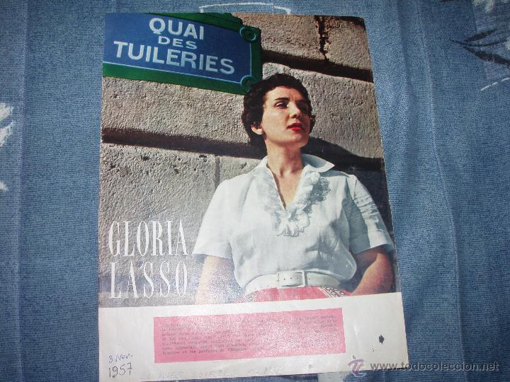 Discos de vinilo: GLORIA LASSO: LA FIESTA DEL CAFE, SOLO A TI, MARINGA, ÇA C`EST L`AMOUR + regalo de un reportaje 1957 - Foto 2 - 34490880