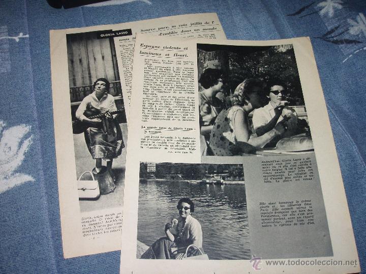Discos de vinilo: GLORIA LASSO: LA FIESTA DEL CAFE, SOLO A TI, MARINGA, ÇA C`EST L`AMOUR + regalo de un reportaje 1957 - Foto 3 - 34490880