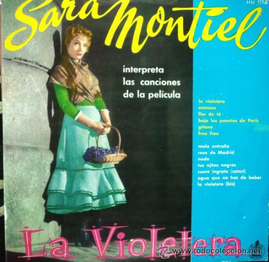 SARA MONTIEL / LA VIOLETERA, LP HISPAVOX 1958 ORG EDIT !! TOD EXC (Música - Discos - LP Vinilo - Solistas Españoles de los 50 y 60)