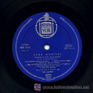 Discos de vinilo: SARA MONTIEL / LA VIOLETERA, LP HISPAVOX 1958 ORG EDIT !! TOD EXC - Foto 2 - 42695090