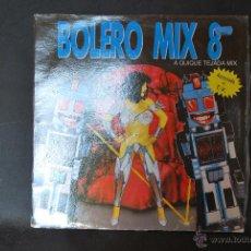 Discos de vinilo: BOLERO MIX 8 - A QUIQUE TEJADA MIX - DOBLE LP - BLANCO Y NEGRO MUSIC - 1991. Lote 42698676