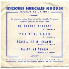 CONJUNTO GUK + ORQUESTA POCOVI - MI BRASIL QUERIDO - EP SPAIN 1969 - BERTA FM-68-136