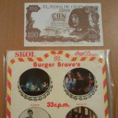 Discos de vinilo: BURGER BRAVO´S BLOQUE + ASFALTO + MORIS + TOPO E.P. EDITADO POR ZAFIRO EN 1979 PROMOCIONAL. Lote 42699644