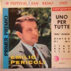 Discos de vinilo: MAGNIFICO SINGLE DE - EMILIO - PERICOLI -. Lote 42705348