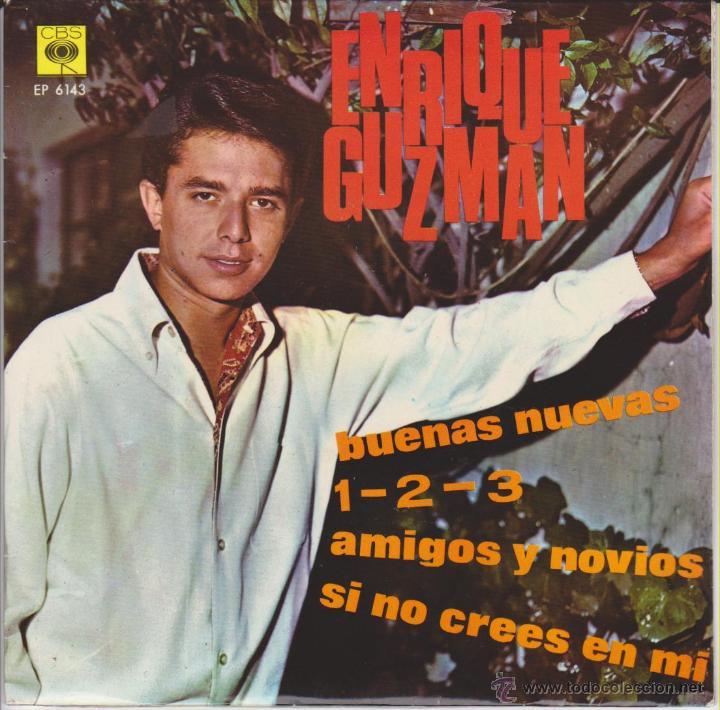 ENRIQUE GUZMAN - BUENAS NUEVAS - AMIGOS Y NOVIOS + 2 - EP SPAIN 1966 VG+ / EX (Música - Discos de Vinilo - EPs - Solistas Españoles de los 50 y 60)