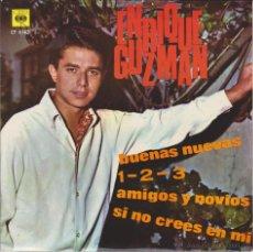 Discos de vinilo: ENRIQUE GUZMAN - BUENAS NUEVAS - AMIGOS Y NOVIOS + 2 - EP SPAIN 1966 VG+ / EX. Lote 42708176