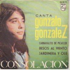 Discos de vinilo: GONZALO GONZALEZ - CONSOLACION - CARNAVALITO DE PICAFLOR + 2 - EP SPAIN 1964 VG++ / VG++. Lote 42710367