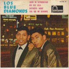Discos de vinilo: LOS BLUE DIAMONDS - ALICE IN WONDERLAND - SATURDAY NIGHT + 2 - EP SPAIN 1963. Lote 42710831